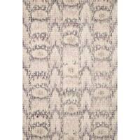 Hand-hooked Ikat Pink/ Grey Mosaic Wool Area Rug - 9'3 x 13'