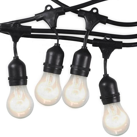 Royal Designs Premium Weatherproof Indoor/Outdoor String Lights - Clear Light Bulbs Included