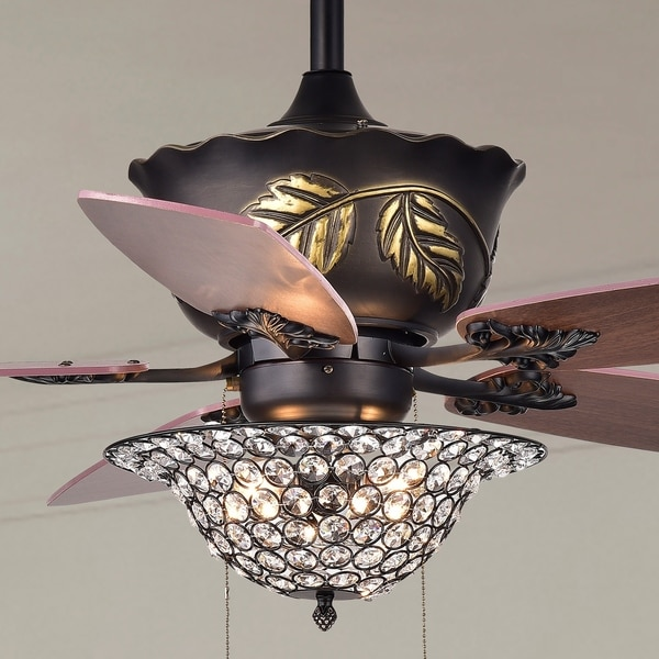Collins 52 inch 5 blade ceiling fan crystal bowl brown free collins 52 inch 5 blade ceiling fan crystal bowl brown aloadofball Gallery