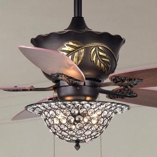 Collins 52-Inch 5-Blade Ceiling Fan Crystal Bowl
