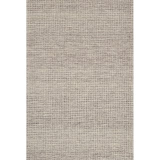 Hand-hooked Transitional Earth-tone Mosaic Tile Rug - 12' x 15' (Option: Taupe)