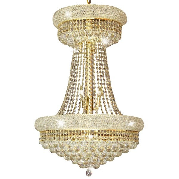 Primo Special Goldtone Metal and Crystal Chandelier