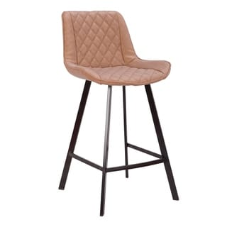 """Wayne Industrial 26"""" Counter Stool in Faux Leather (Set of 2)"""