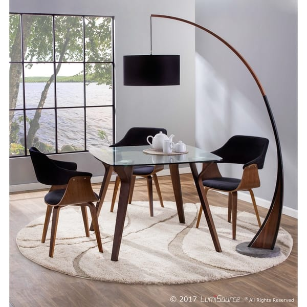 Fabulous Shop Lucci Mid Century Modern Dining Accent Chair In Walnut Pabps2019 Chair Design Images Pabps2019Com
