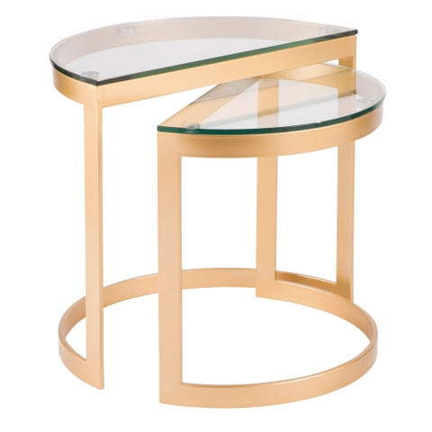 Demi Contemporary Nesting Tables by LumiSource (Set of 2)