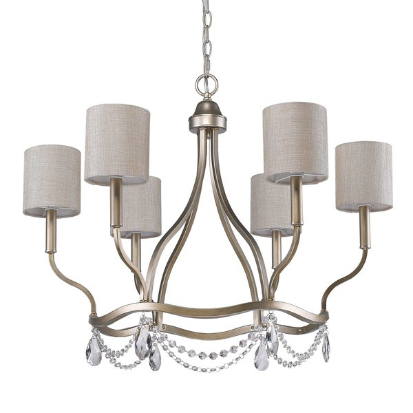 Acclaim Lighting Margaret Gold Steel 6-light Chandelier
