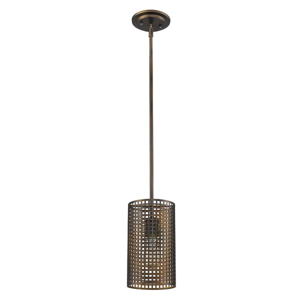 Acclaim Lighting Loft Indoor 1-Light Mini Pendant With Metal Shade In Oil Rubbed Bronze