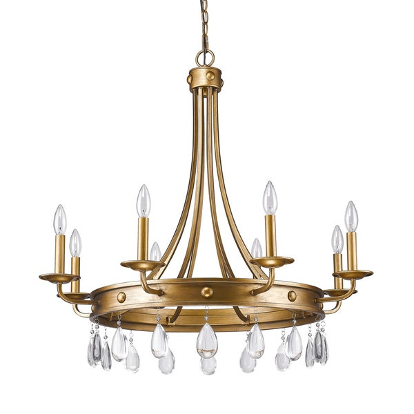 Acclaim Lighting Krista Gold Steel and Crystal 8-light Chandelier