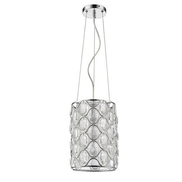 Acclaim Lighting Isabella Indoor 1-Light Pendant With Crystal In Polished Nickel