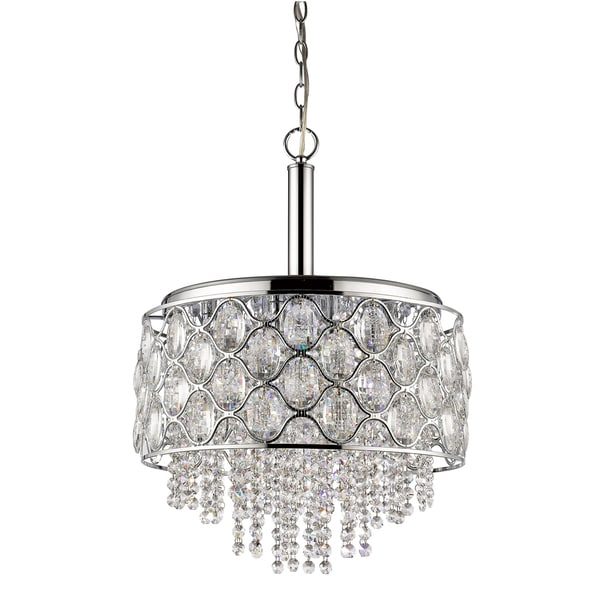 Acclaim Lighting Isabella Polished Nickel 6-light Pendant with Crystal Strands - Silver
