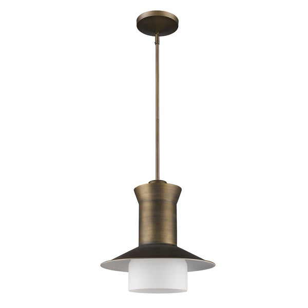 Acclaim Lighting Greta Indoor 1-Light Pendant With Glass Shade In Raw Brass