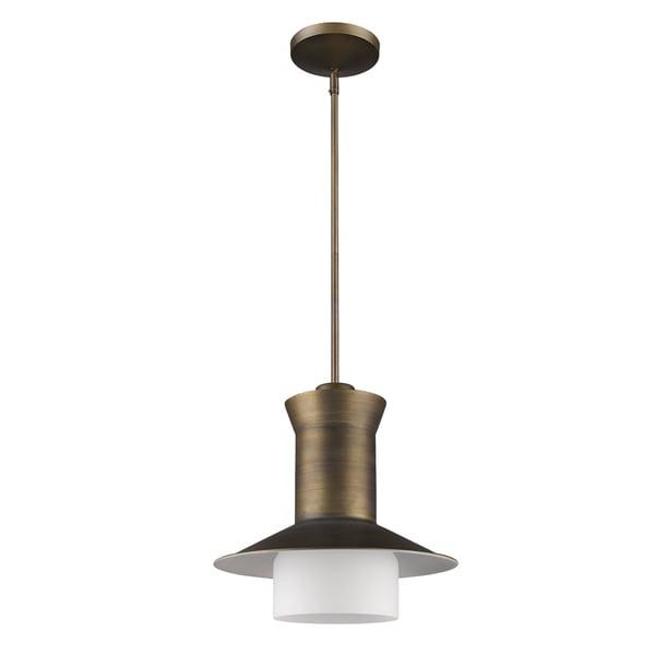 Acclaim Lighting Greta Indoor 1-Light Pendant With Glass Shade In Raw Brass
