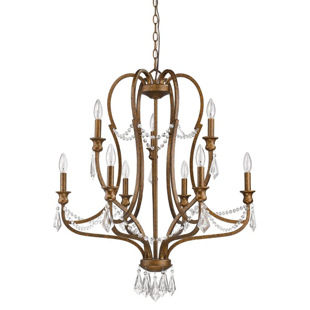 Acclaim Lighting Gianna Indoor 9 Light Russet Chandelier With Crystal Overstock 19562305