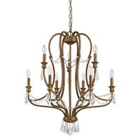 Acclaim Lighting Gianna Indoor 9-Light Russet Chandelier With Crystal