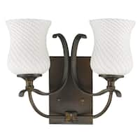 Acclaim Lighting Evelyn Indoor 2-Light Bath With Glass Shades In Oil Rubbed Bronze