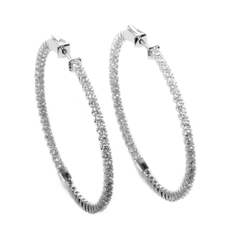 e0ef8f22a Shop Large White Gold Diamond Hoop Earrings AER-9844W - On Sale - Free  Shipping Today - Overstock - 19562319