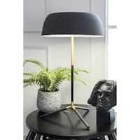 "Watch Hill 22"" Donna Brass & Iron Shade Brass Table Lamp"