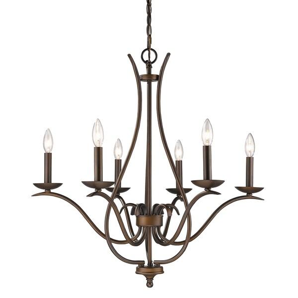 Acclaim Lighting Genevieve Oil-rubbed Bronze Steel Indoor 6-light Chandelier