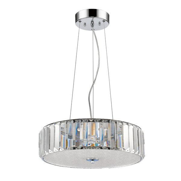 Acclaim Lighting Erin Polished Nickel Steel with Crystal Shade Indoor LED Pendant
