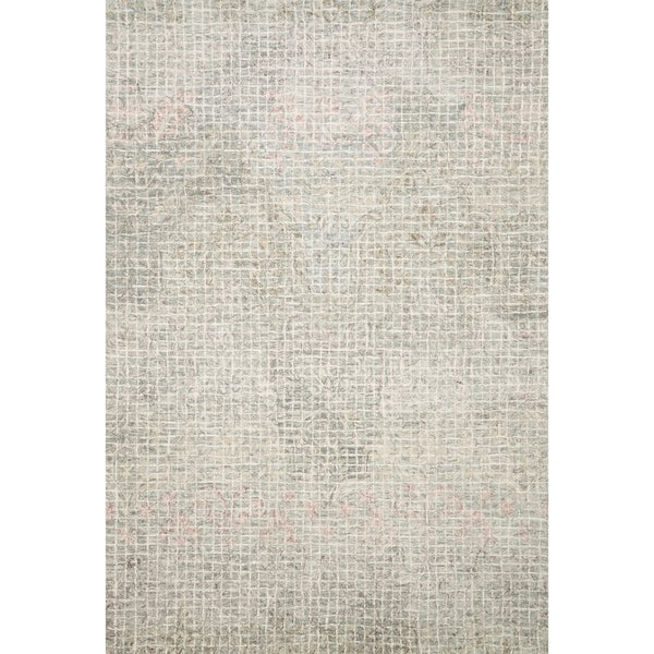 "Alexander Home Nile Abstract 100% Wool Hand Hooked Rug - 9'3"" x 13'"
