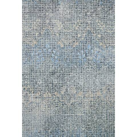 """Alexander Home Nile Abstract 100% Wool Hand Hooked Rug - 9'3"""" x 13'"""