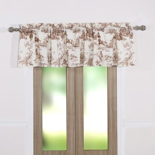 Classic Toile Taupe Window Valance