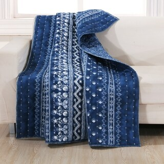 Embry Indigo Quilted Throw