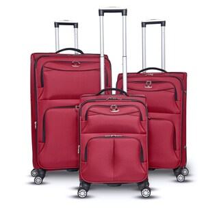 Gabbiano Bristol Collection 3-Pieces Softside Upright Spinner Set