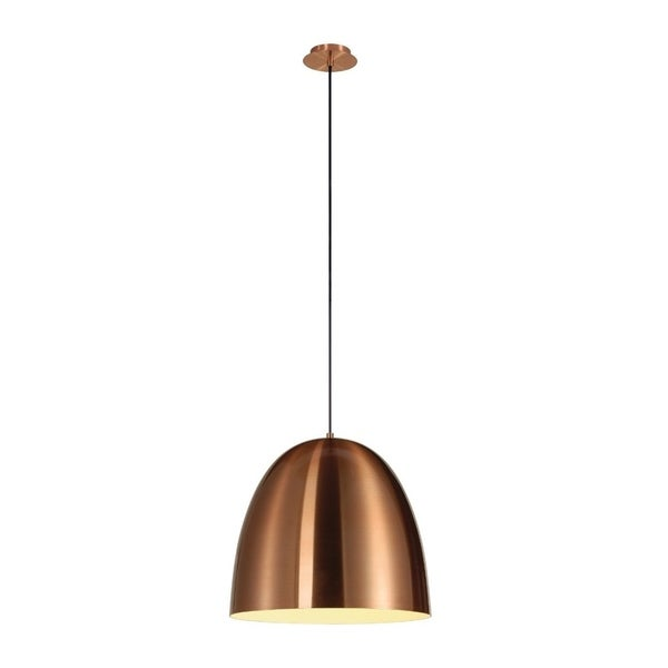 SLV Lighting Para Cone 40 Copper Brushed Steel Incandescent Pendant