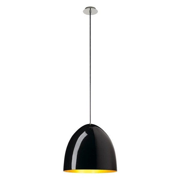 SLV Lighting Para Cone 40 Black/Gold-tone Aluminum Incandescent Pendant