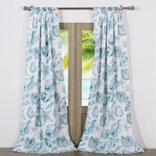 Link to Barefoot Bungalow Cruz Coastal Curtain Panel Set (Set of Two Panels) - 84 W x 84 L (inches) - 84 W x 84 L (inches) Similar Items in Window Treatments