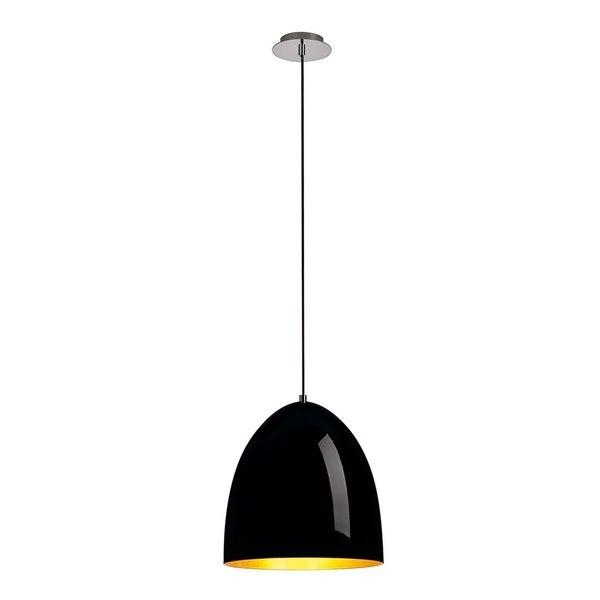 SLV Lighting Para Cone 30 Black/ Gold Incandescent Pendant