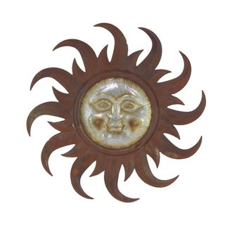 Link to 31 inch Industrial Iron Sun Face Wall Decor Similar Items in Outdoor Decor