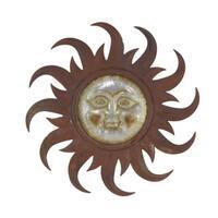 31 inch Industrial Iron Sun Face Wall Decor