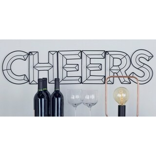 Rustic Iron Cheers Wall Sign