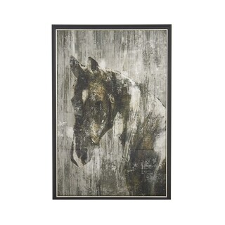 Rustic Wood and Canvas Painted Horse Framed Wall Art