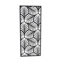 Contemporary Tin Framed Open Leaf Wall Decor