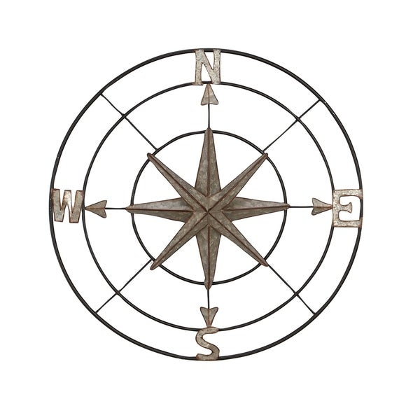 Coastal Iron Compass Wall Decor