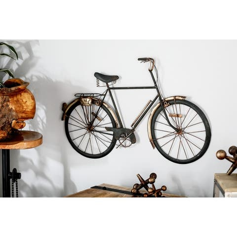 Rustic Iron Black Bicycle Wall Decor