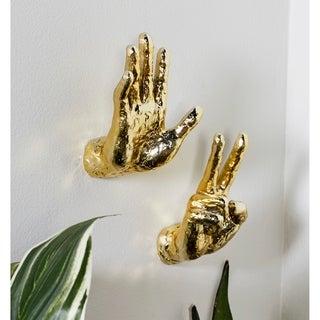 Set of 6 Modern Resin Gold Hand Wall Decor