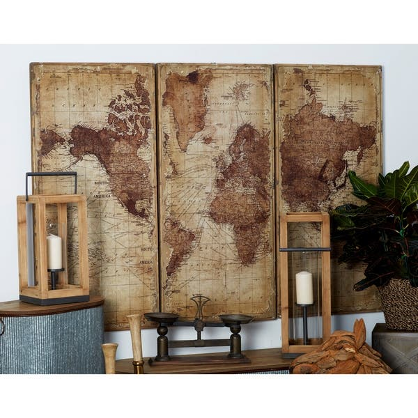 Antique World Map Wall Decor By Studio
