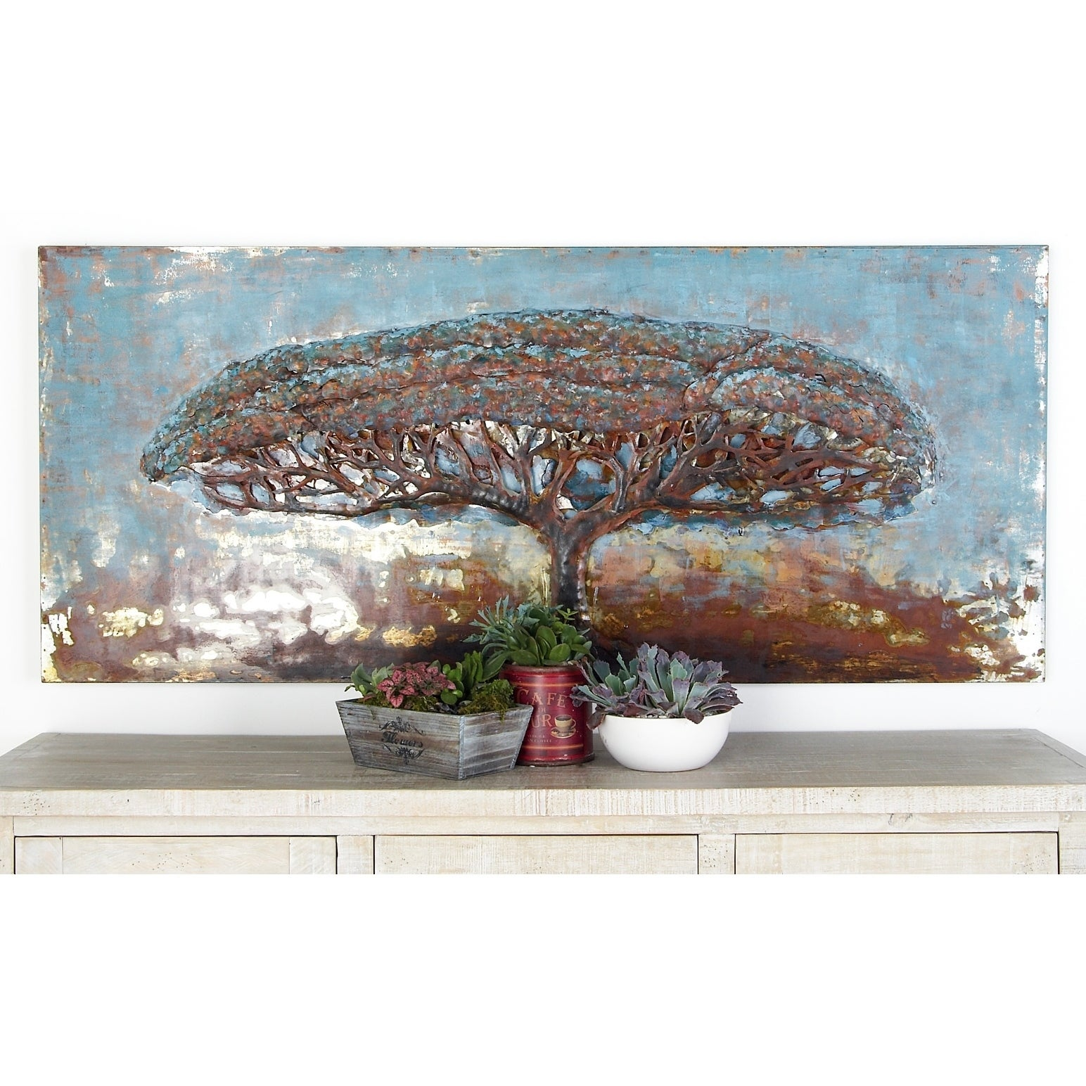 Studio 350 Natural Iron Tree with Spread Out Branches Pai...