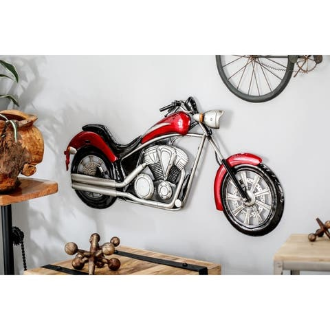 Modern Iron Motorcycle Wall Decor