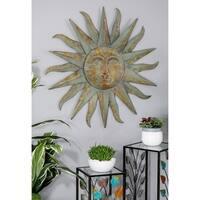 Modern Iron Sun-Inspired Wall Decor