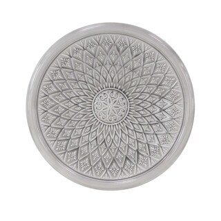 Traditional Iron Round Floral Wall Decor
