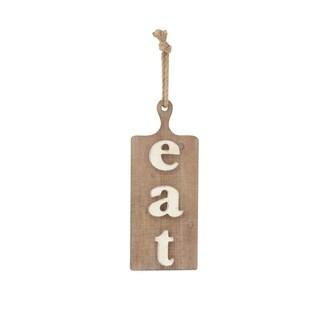 Modern Pine Wood Roped Eat Wall Sign