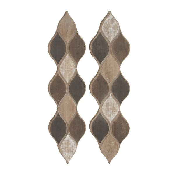 Geometric Patterned Wood Wall Decor