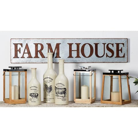 10 X 48 inch Farmhouse Iron Rectangular Wall Sign