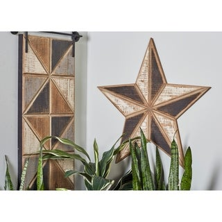 Link to Set of 3 Farmhouse Wooden Brown Wall Stars Similar Items in Wall Sculptures