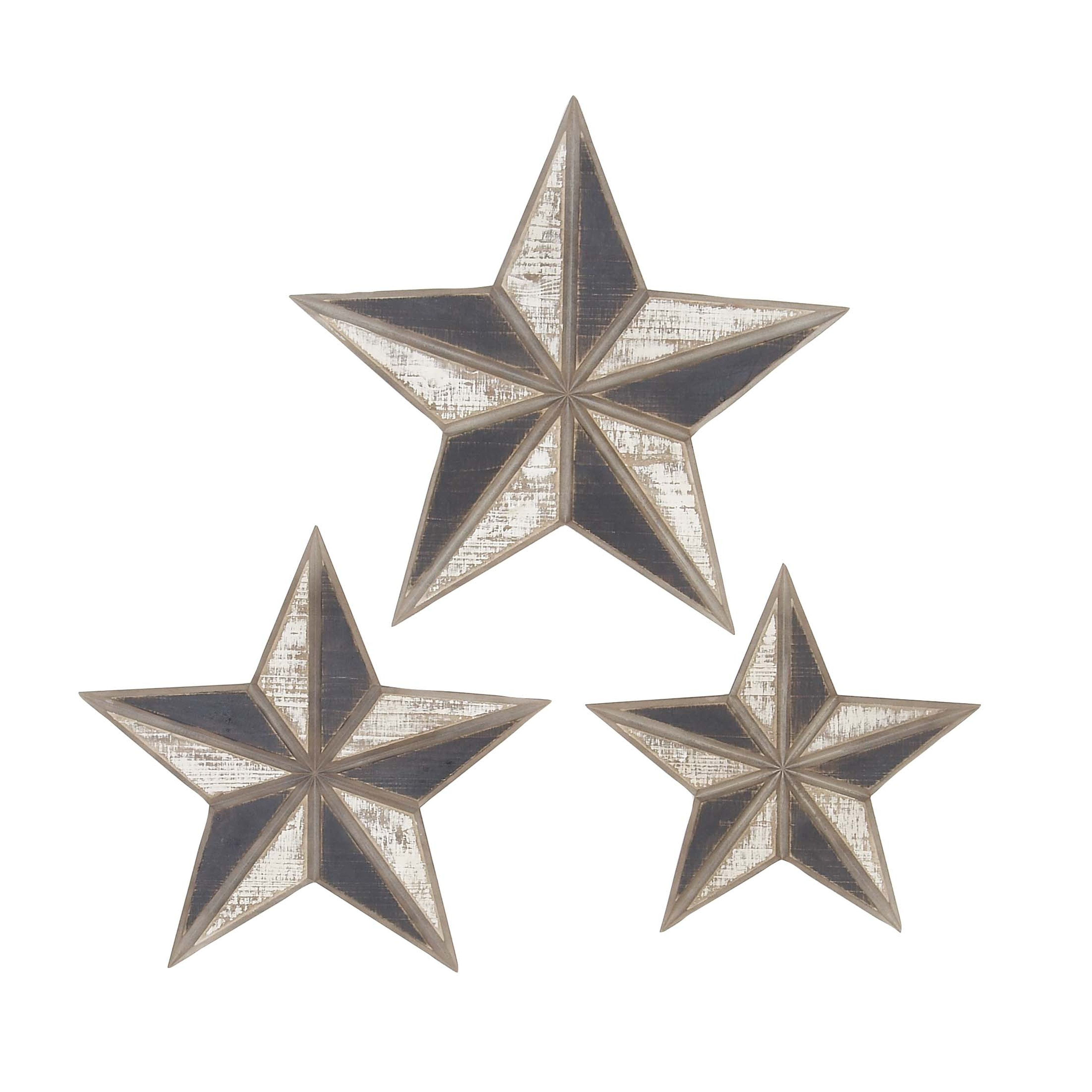 Details About Wall Stars Rustic Western Country Home Decor Wooden Set 3 Gift Plaque New